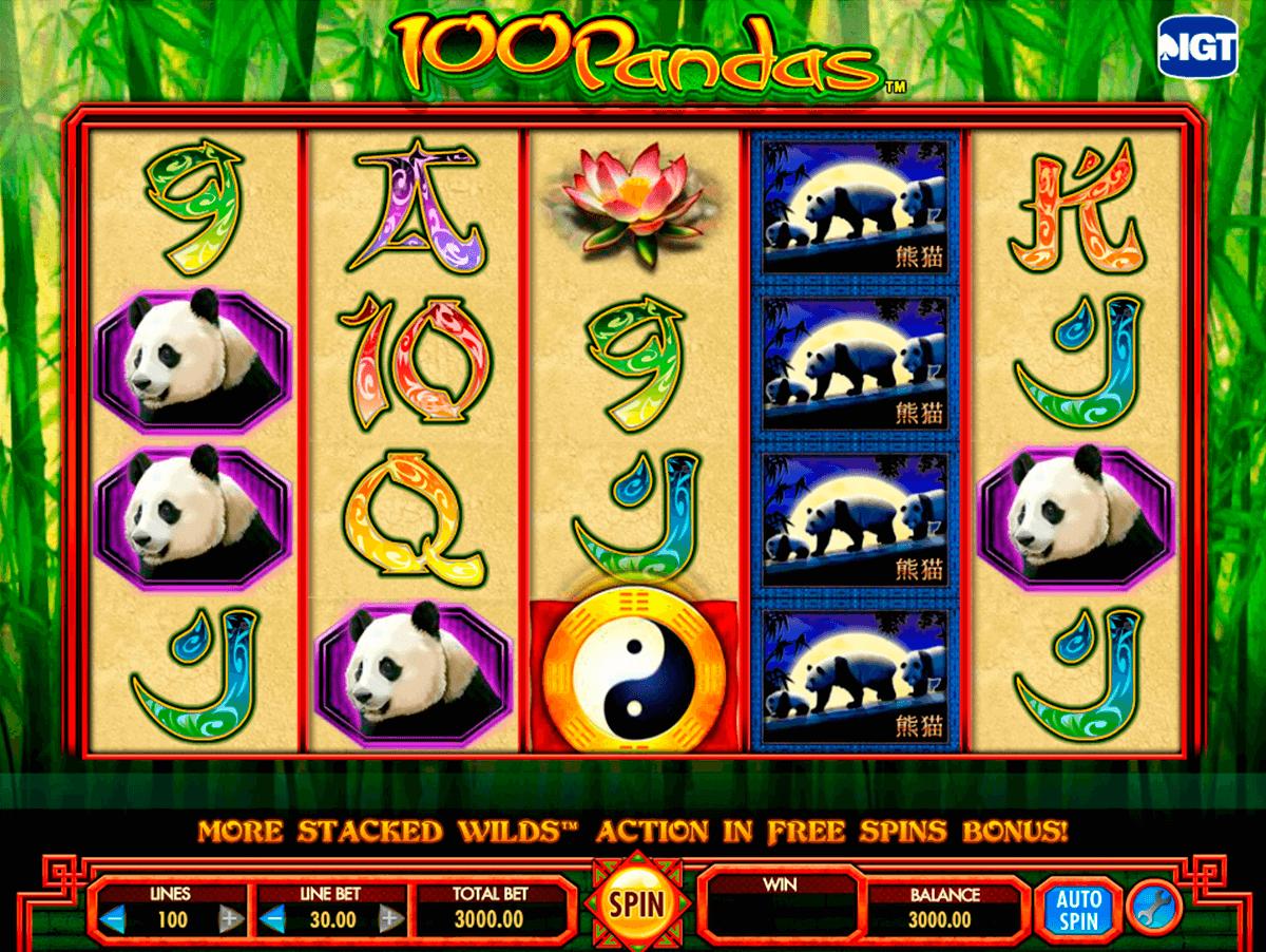 100 pandas igt pokie