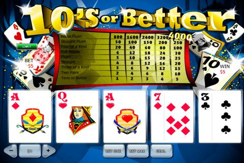 s or better playtech video poker