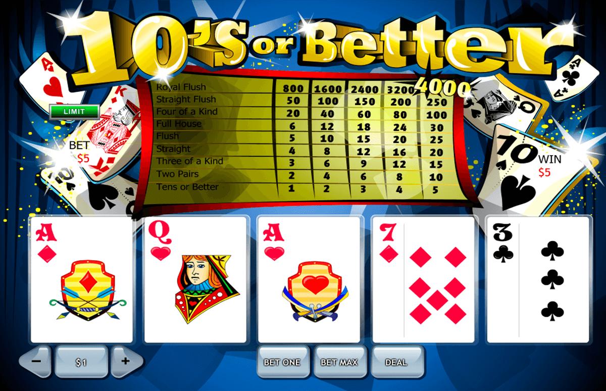 10s or better playtech video poker