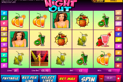 a night out playtech pokie