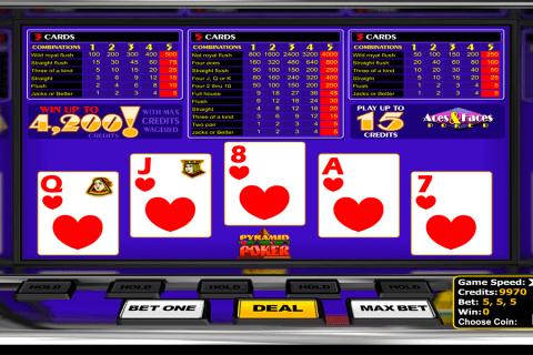 aces faces poker betsoft video poker