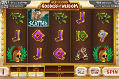 age of the gods goddess of wisdom playtech pokie