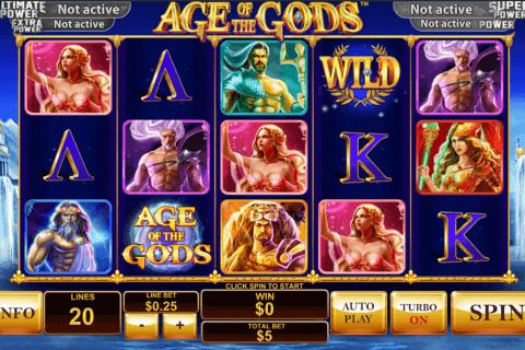 age of the gods playtech pokie