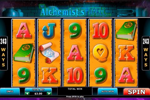 alchemists spell playtech pokie