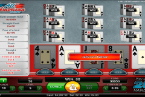 all american netent video poker