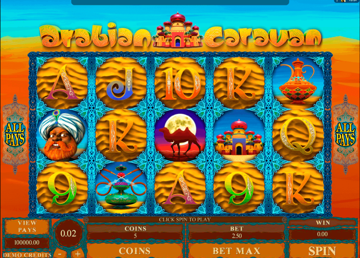 Arabian Caravan Slot Machine Play Free Microgaming Pokies