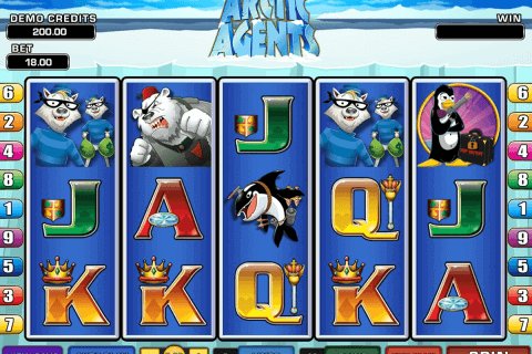 arctic agents microgaming pokie