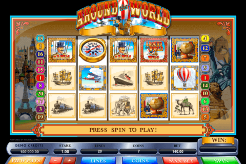 around the world microgaming pokie