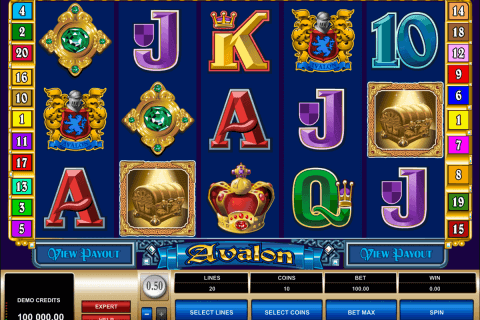 avalon microgaming pokie