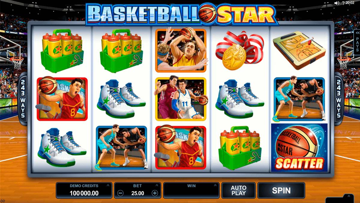 basketball star microgaming pokie