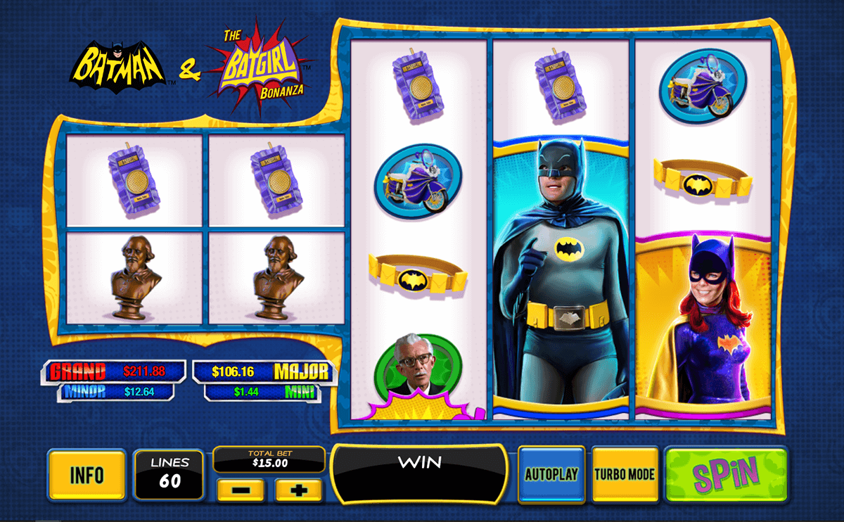 Play Batman & The Batgirl Bonanza Slots Online at Casino.com New Zealand