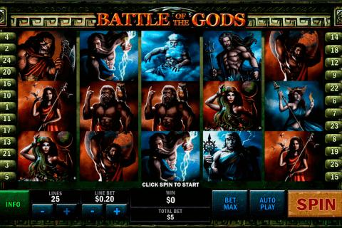 battle of the gods playtech pokie