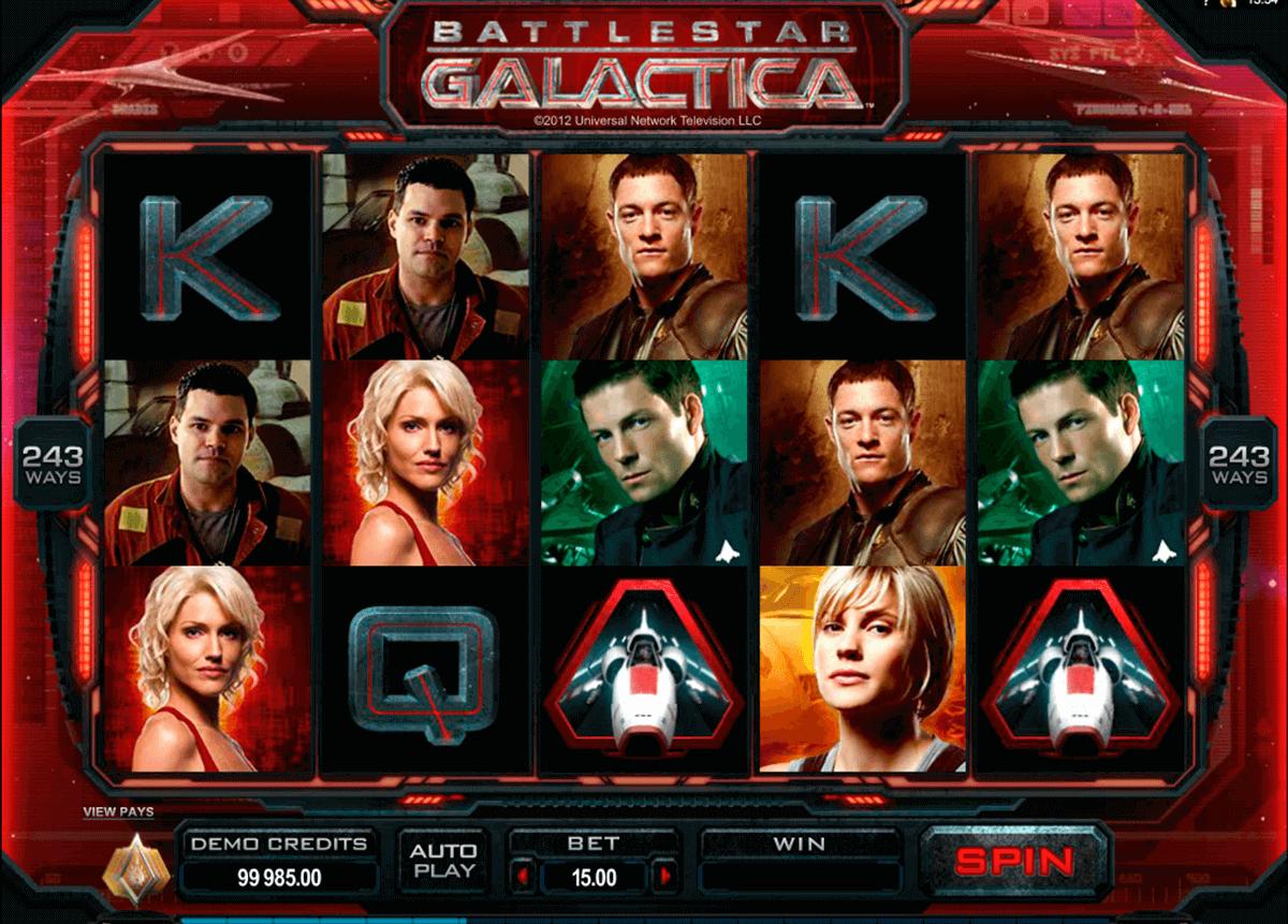 battlestar galactica microgaming pokie