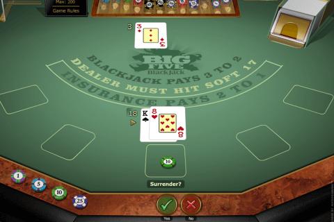 big  blackjack gold microgaming