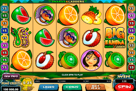 big kahuna snakes and ladders microgaming pokie