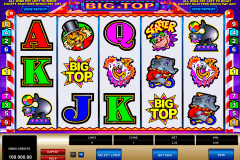 big top microgaming pokie