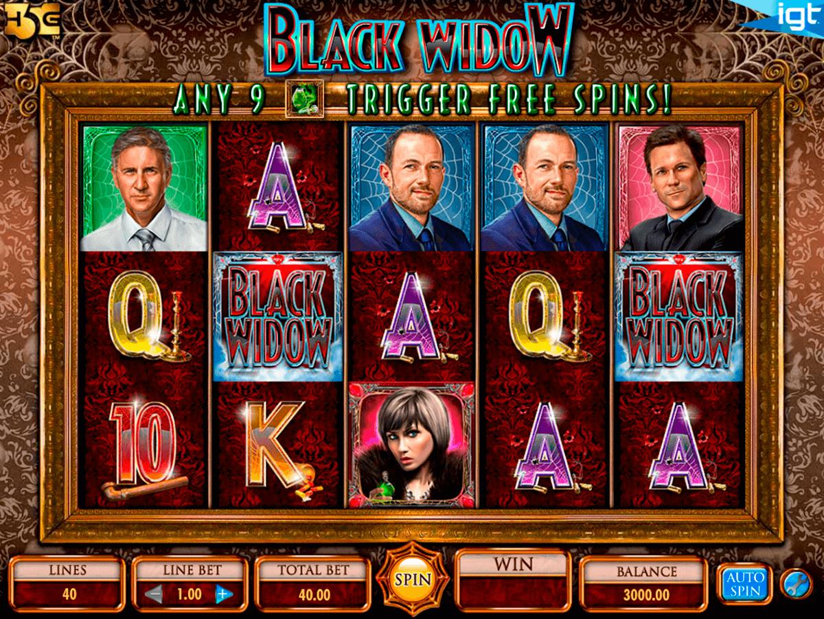 black widow igt pokie