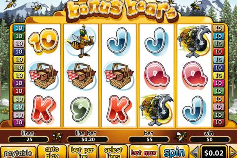 bonus bears playtech pokie