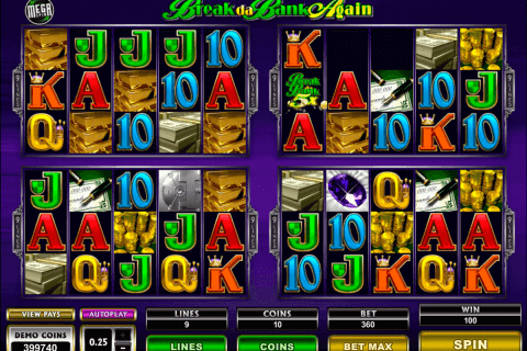 break da bank again megaspin microgaming pokie