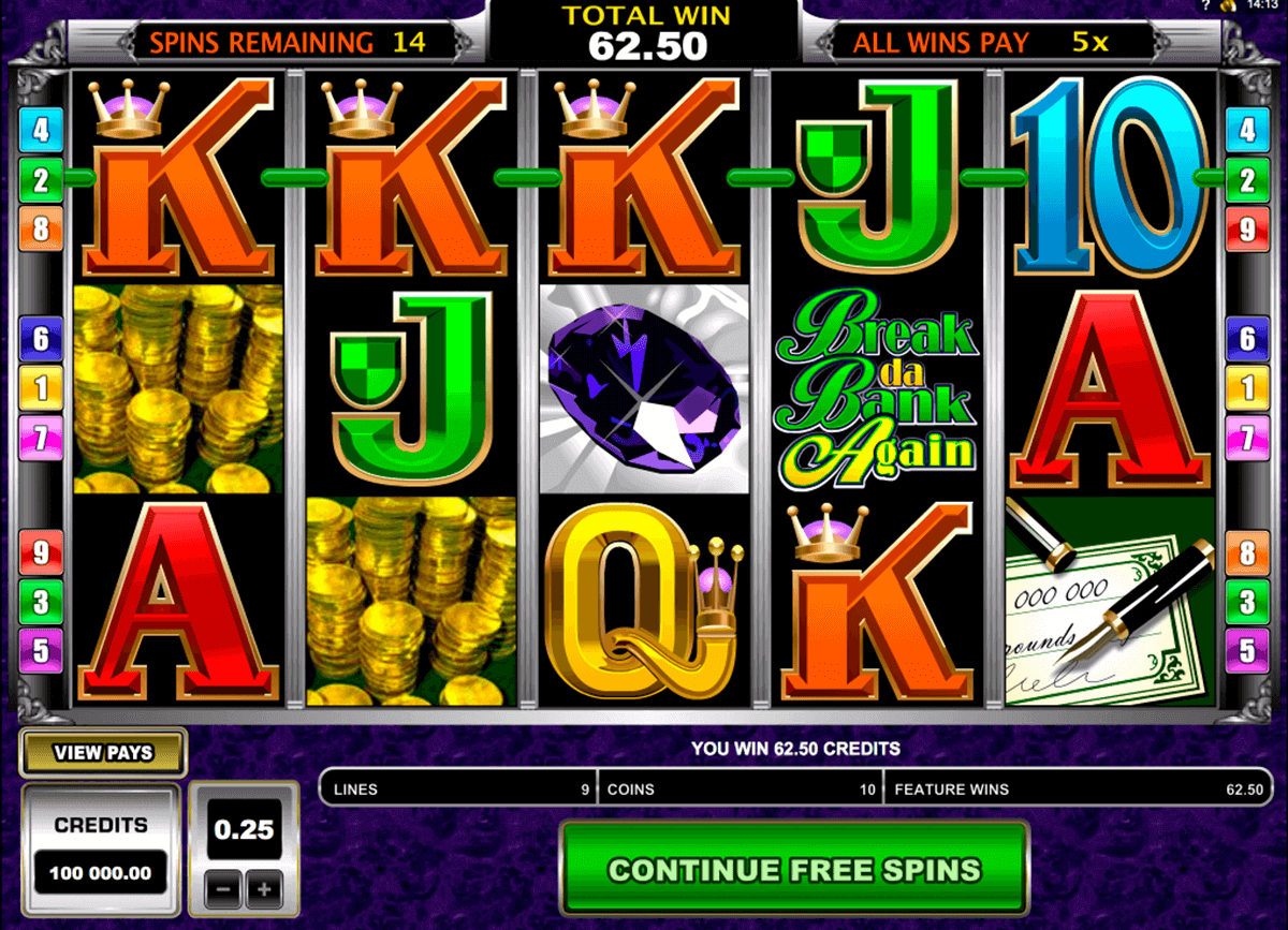 break da bank again microgaming pokie