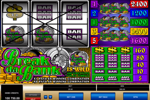 break da bank microgaming pokie