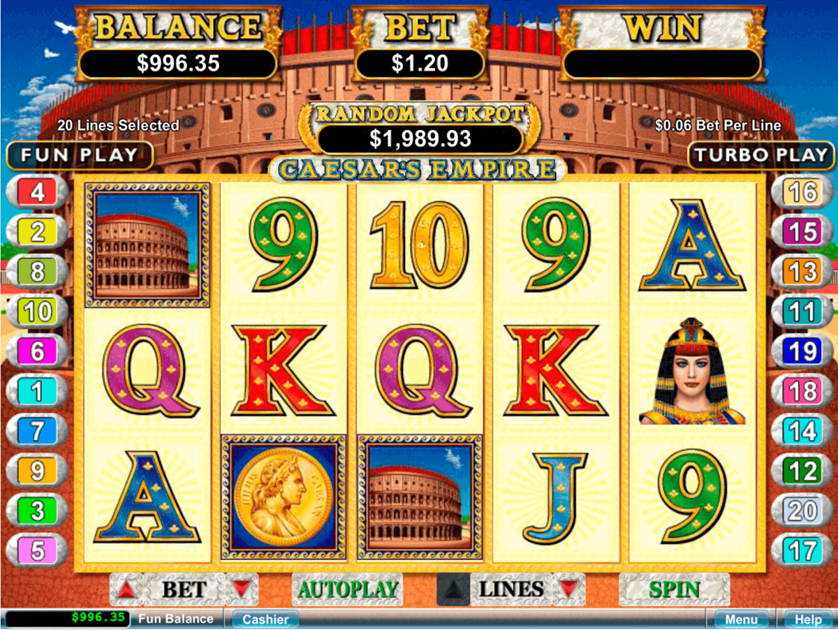 Caesar S Empire Slot Machine Play Free Rtg Pokies Online