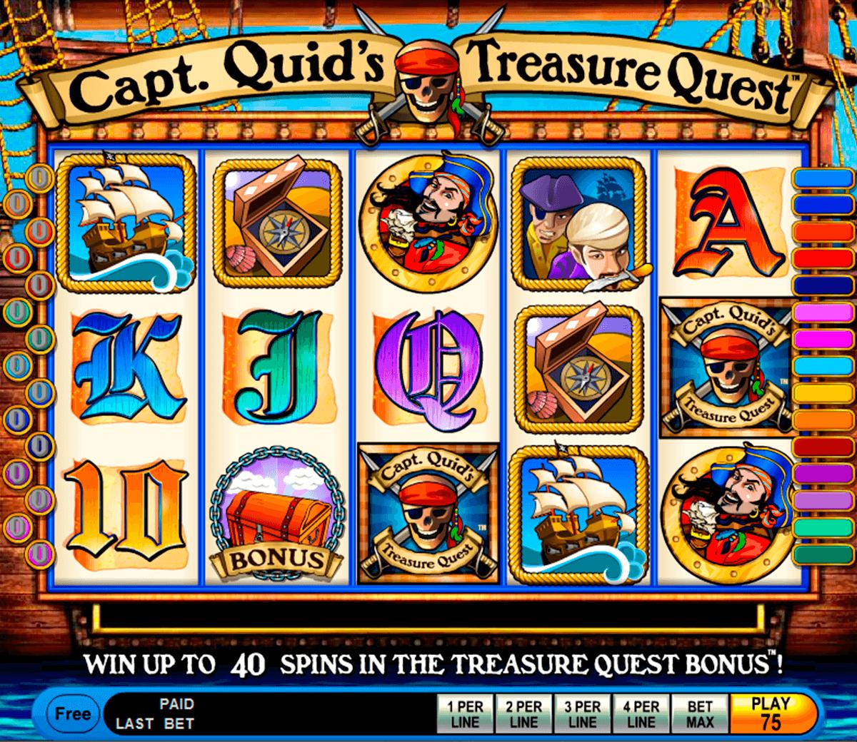 capt quids treasure quest igt pokie