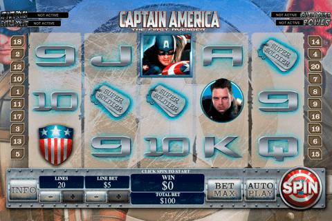 captain america playtech pokie