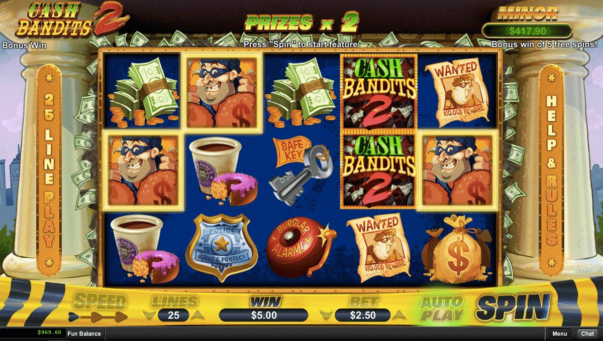 Cash Bandits 2 Slot Machine Play Free Rtg Pokies Online