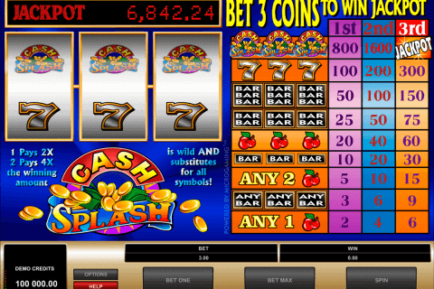cashsplash microgaming pokie