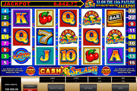 cashsplash video slot microgaming pokie