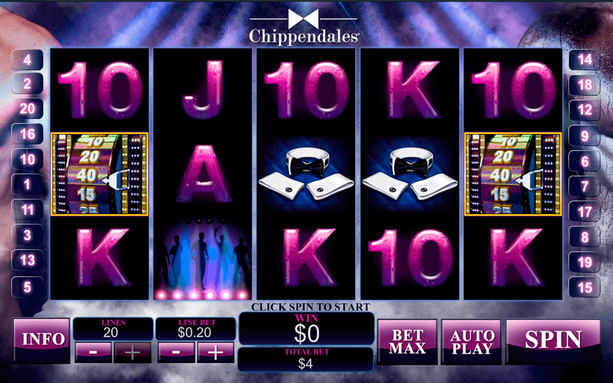 chippendales playtech pokie