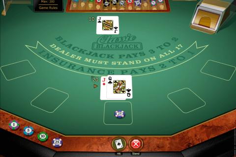classic blackjack gold microgaming