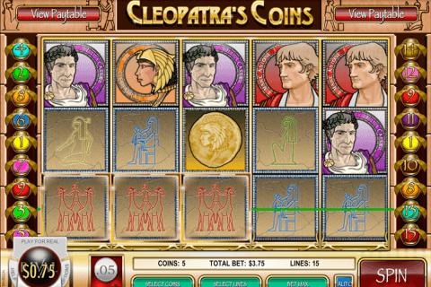cleopatras coins rival pokie