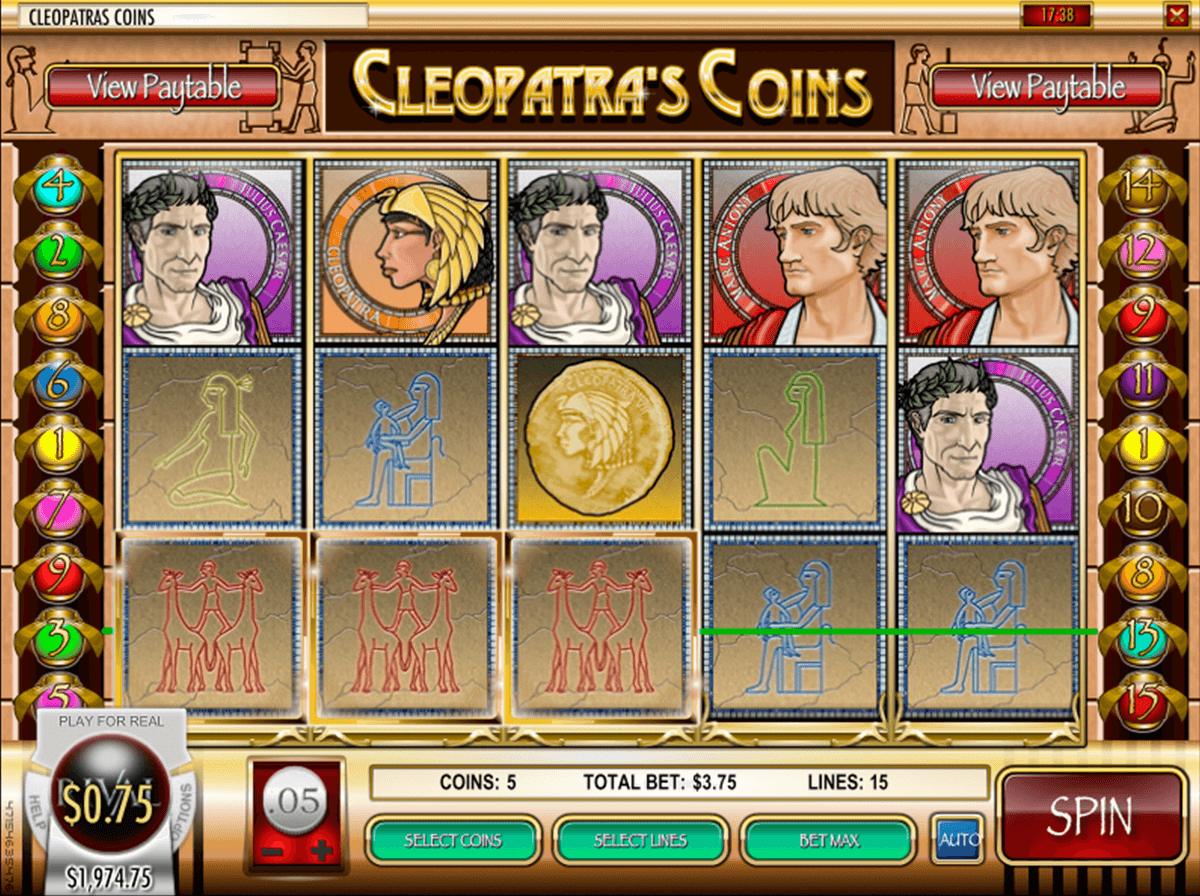 cleopatras coins rival pokie