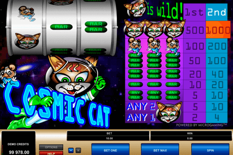 cosmic cat microgaming pokie
