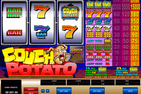 couch potato microgaming pokie