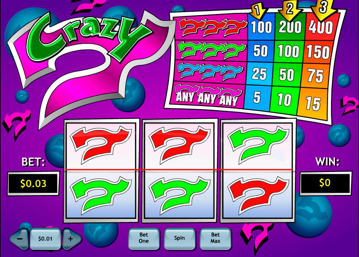crazy 7 playtech pokie