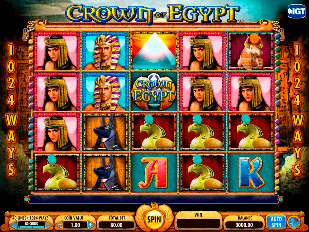 crown of egypt igt pokie