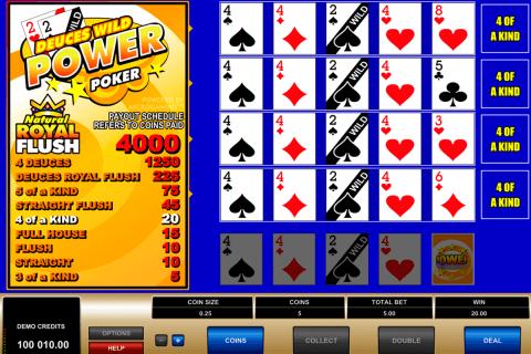 deuces wild  play power poker microgaming video poker
