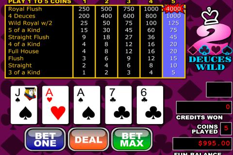 deuces wild video poker rtg video poker