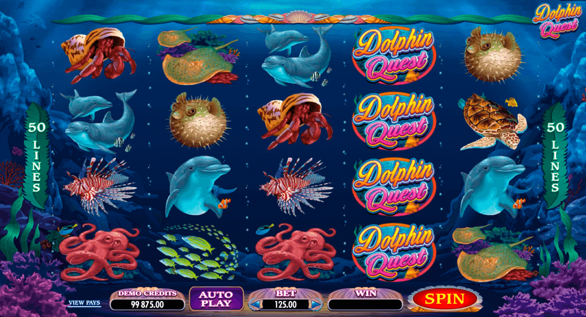 dolphin quest microgaming pokie