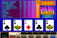 double bonus poker microgaming video poker