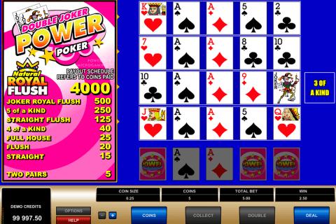 double joker  play power poker microgaming video poker