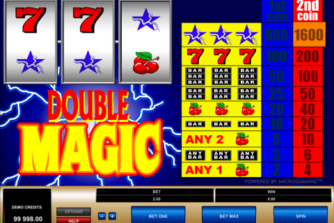 double magic microgaming pokie