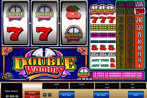 double wammy microgaming pokie