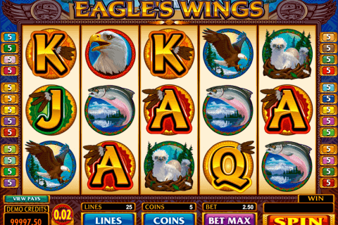 eagles wings microgaming pokie