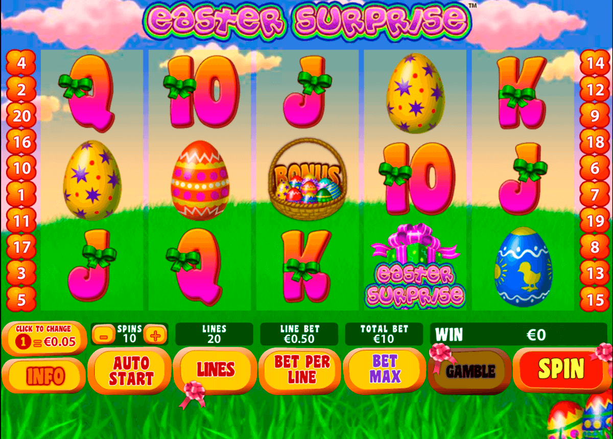 easter surprise playtech pokie