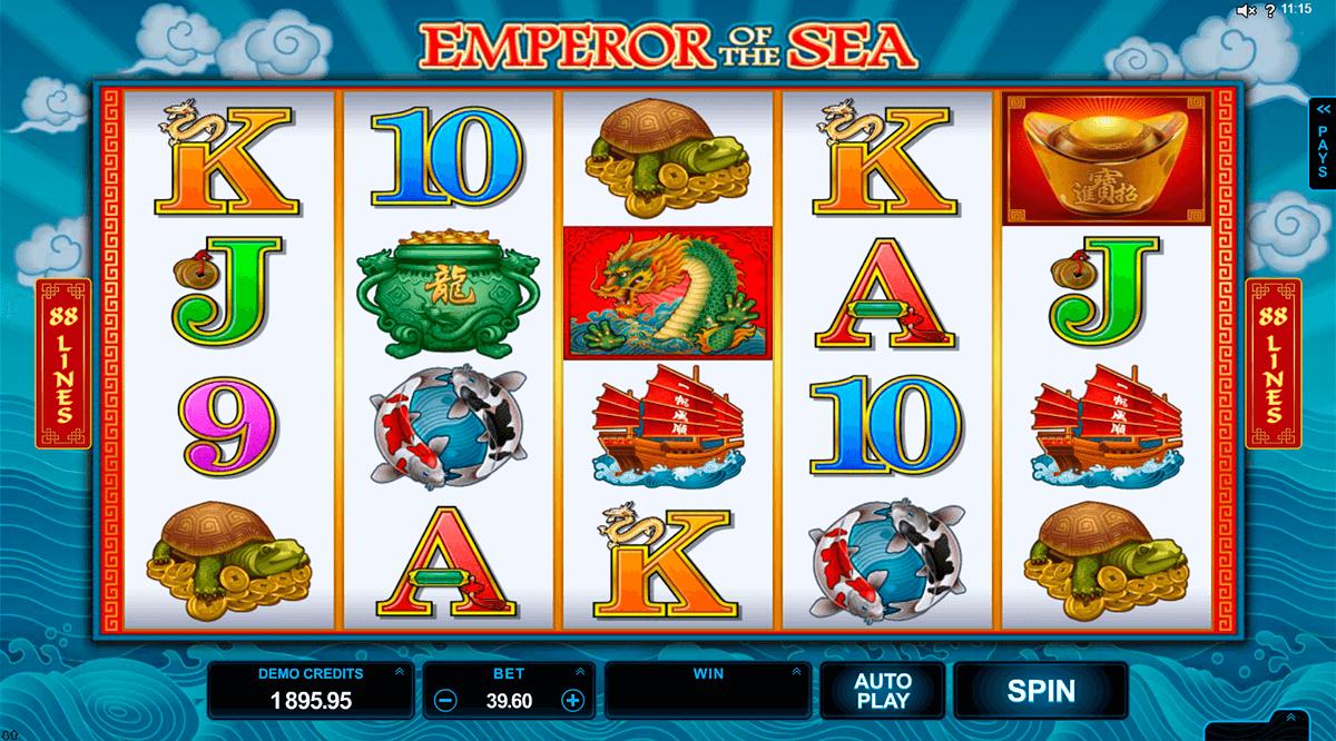 emperor of the sea microgaming pokie