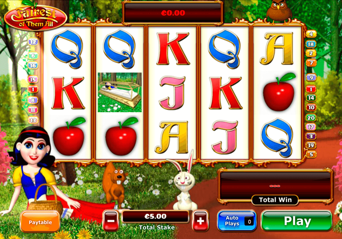 fairest of them all playtech pokie